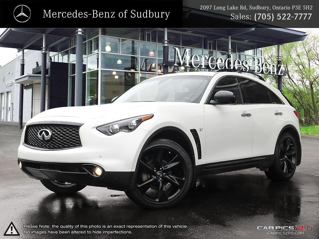 Pre Owned 2017 Infiniti Qx70 Sport A Reliable Modern Black On White Suv For