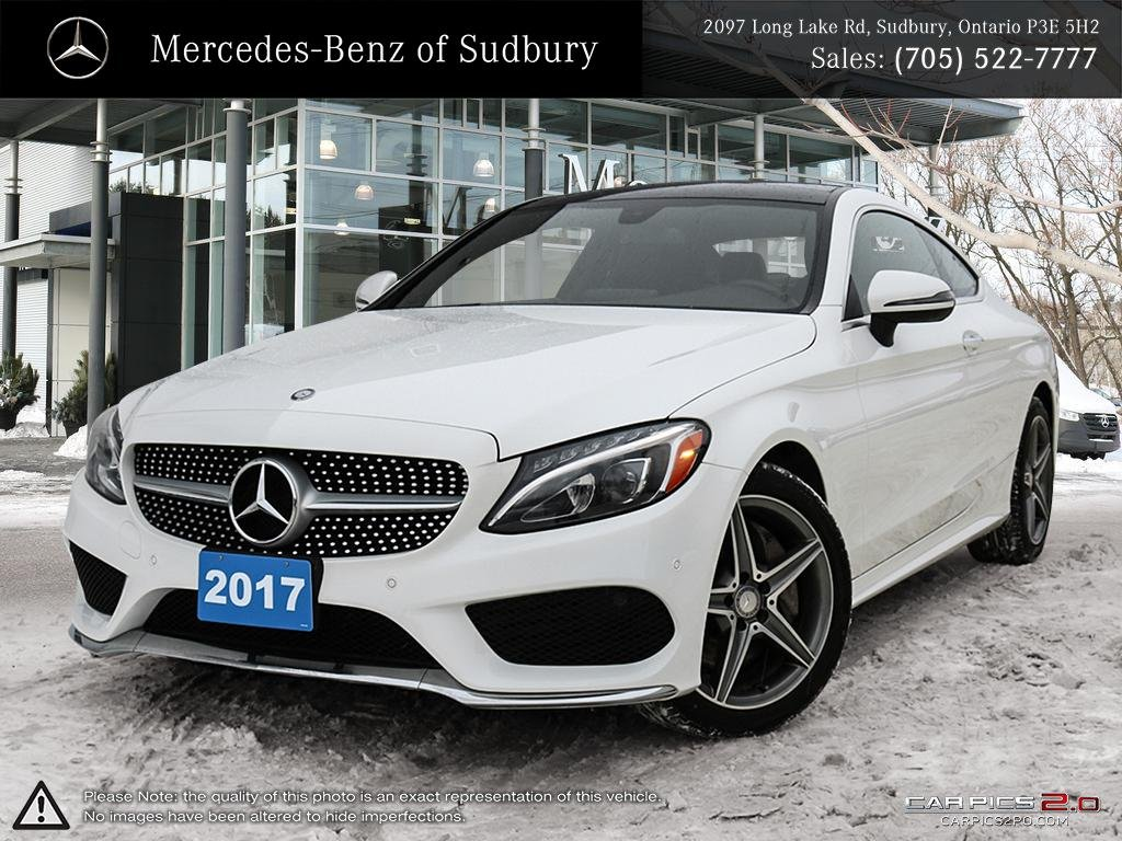 certified pre-owned 2017 mercedes-benz c-class c300 4matic coupe 2dr